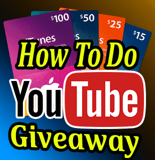 How To Do Giveaways For YouTube